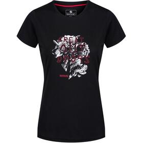 Regatta Fingal IV t-shirt Dames zwart